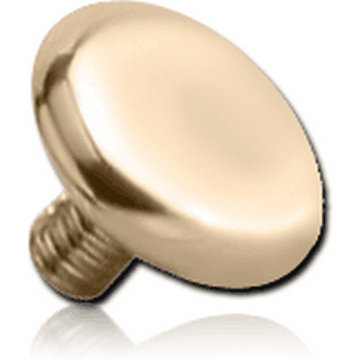 14K GOLD DISC FOR 1.6MM INTERNALLY THREADED PINS
