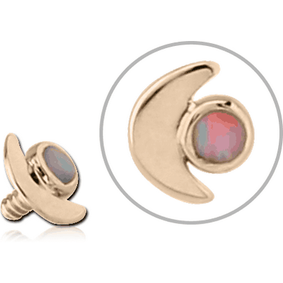 14K GOLD JEWELLED FOR 1.2MM INTERNALLY THREADED PINS - CRESCENT