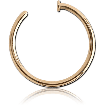 14K GOLD OPEN NOSE RING