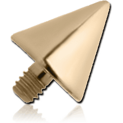 18K GOLD CONE FOR 1.6MM INTERNALLY THREADED PINS