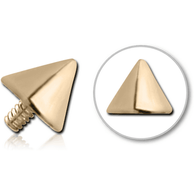 18K GOLD CONE FOR 1.2MM INTERNALLY THREADED PINS