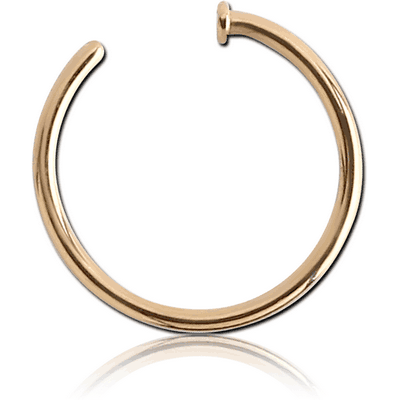 18K GOLD OPEN NOSE RING