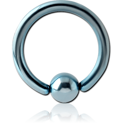 ANODISED SURGICAL STEEL BALL CLOSURE RING