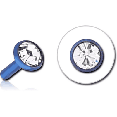 ANODISED SURGICAL STEEL JEWELLED PUSH FIT DISC FOR BIOFLEX INTERNAL LABRET