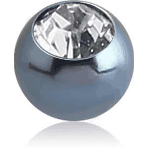 ANODISED SURGICAL STEEL OPTIMA CRYSTAL JEWELLED BALL