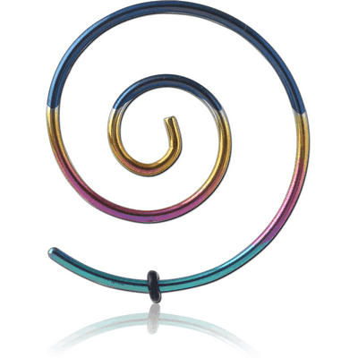 ANODISED SURGICAL STEEL WIRE EAR SPIRAL