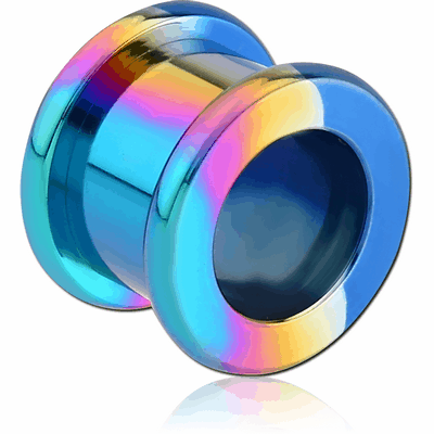 ANODISED STAINLESS STEEL THREADED ROUND EDGE TUNNEL