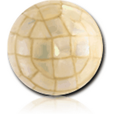 EPOXY COATED SYNTHETIC MOTHER OF PEARL MOSAIC BALL