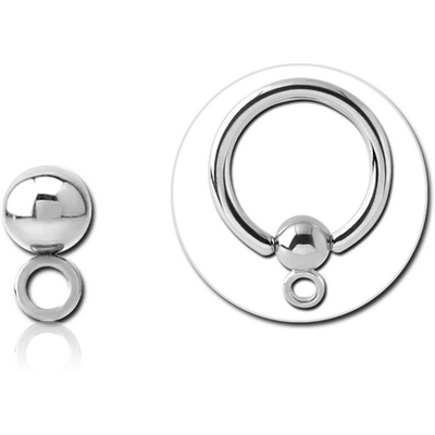 SURGICAL STEEL BALL FOR BALL CLOSURE RING WITH HOOP