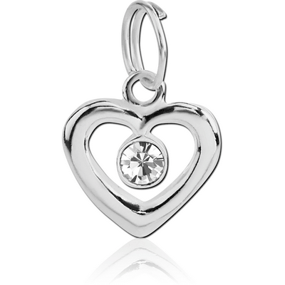 SILVER PLATED WHITE METAL CHARM - HEART