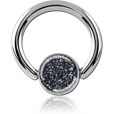 SURGICAL STEEL GLITTERLINE BALL CLOSURE RING