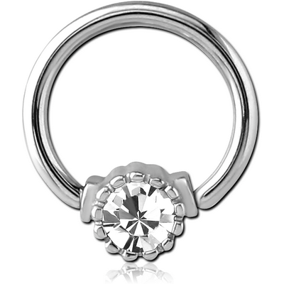 SURGICAL STEEL JEWELED BALL CLOSURE RING