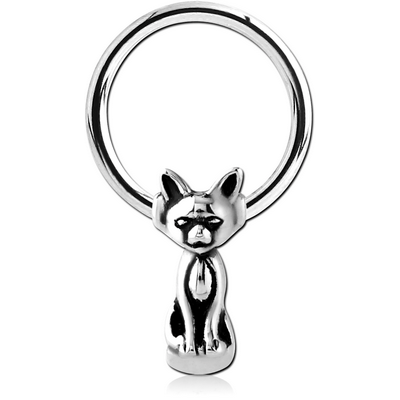 SURGICAL STEEL BALL CLOSURE RING WITH ATTACHMENT - CAT