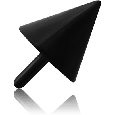 BLACK PVD COATED SURGICAL STEEL PUSH FIT CONE FOR BIOFLEX INTERNAL LABRET