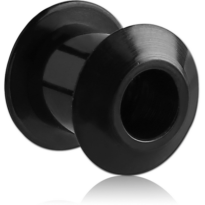 BLACK PVD COATED STAINLESS STEEL INTERNALLY THREADED ANGLED TUNNEL