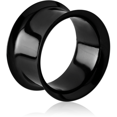 BLACK PVD COATED STAINLESS STEEL DOUBLE FLARED TUNNEL