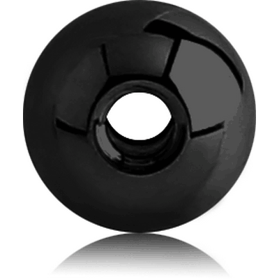 BLACK PVD COATED SURGICAL STEEL DOUBLE THREADED BALL