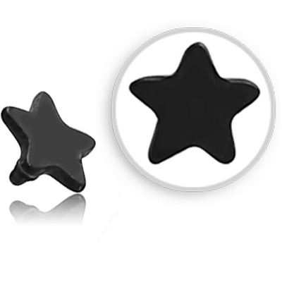 BLACK PVD COATED SURGICAL STEEL STAR FOR 1.2MM INTERNALLY THREADED PINS