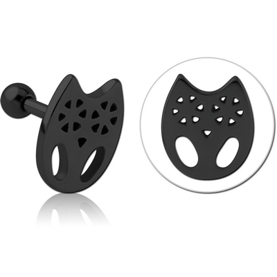 BLACK PVD COATED SURGICAL STEEL TRAGUS MICRO BARBELL