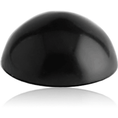 BLACK PVD COATED SURGICAL STEEL MICRO HALF BALL