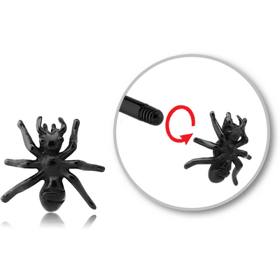 BLACK PVD COATED SURGICAL STEEL MICRO THREADED ATTACHMENT - ANT