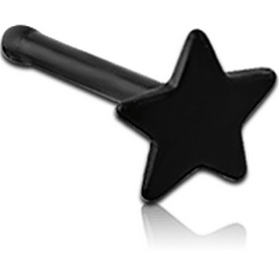 BLACK PVD COATED SURGICAL STEEL STAR NOSE BONE