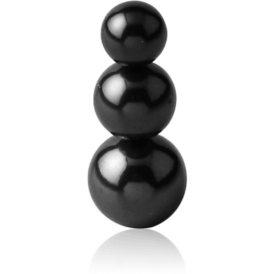 BLACK PVD COATED SURGICAL STEEL PYRAMID BALL