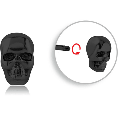 BLACK PVD COATED SURGICAL STEEL ATTACHMENT FOR 1.6 MM THREADED PIN - SKULL