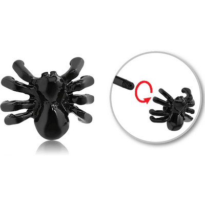BLACK PVD COATED SURGICAL STEEL ATTACHMENT FOR 1.6 MM THREADED PIN - SPIDER