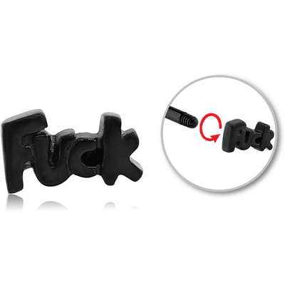 BLACK PVD COATED SURGICAL STEEL ATTACHMENT FOR 1.6 MM THREADED PINS - FUCK