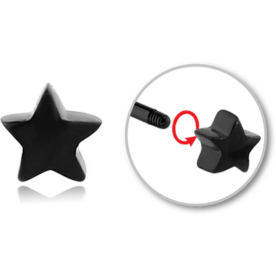 BLACK PVD COATED SURGICAL STEEL ATTACHMENT FOR 1.6 MM THREADED PINS - STAR