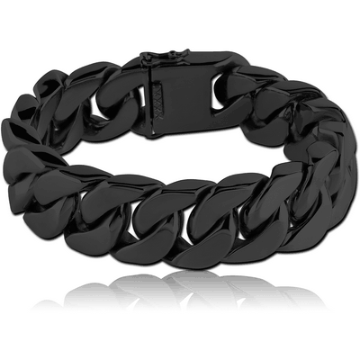 BLACK PVD COATED SURGICAL STEEL BRACELET