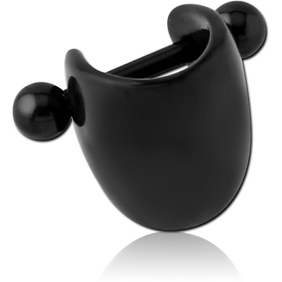 BLACK PVD COATED SURGICAL STEEL CARTILAGE SHIELD