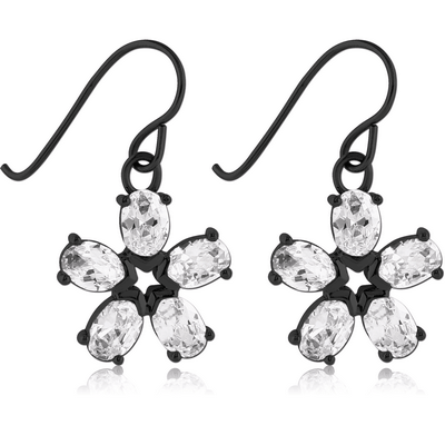BLACK PVD COATED SURGICAL STEEL EARRINGS