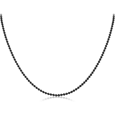 BLACK PVD COATED STAINLESS STEEL BALL CHAIN 60CMS WIDTH*2.4MM