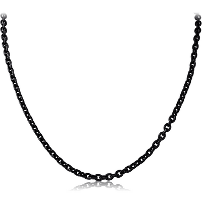 BLACK PVD COATED STAINLESS STEEL CURB CHAIN ROLL CM