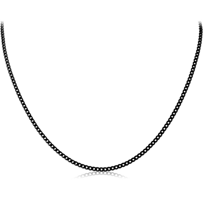 BLACK PVD COATED STAINLESS STEEL FLAT CURB CHAIN ROLL CM
