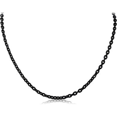 BLACK PVD COATED STAINLESS STEEL FLAT CABLE CHAIN ROLL CM