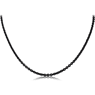 BLACK PVD COATED STAINLESS STEEL CABLE CHAIN ROLL CM