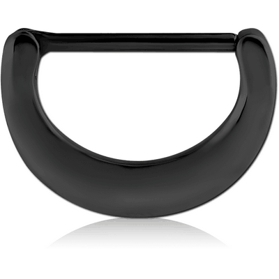 BLACK PVD COATED SURGICAL STEEL NIPPLE CLICKER - PLAIN