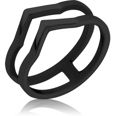BLACK PVD COATED SURGICAL STEEL RING