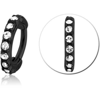 BLACK PVD COATED SURGICAL STEEL JEWELLED MULTI PURPOSE CLICKER
