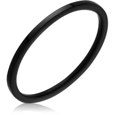 STERLING SILVER 925 BLACK PVD COATED RING - THIN BAND