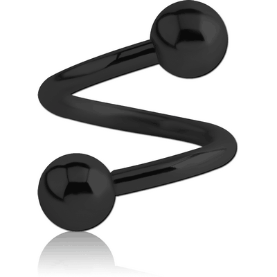 BLACK PVD COATED SURGICAL STEEL BODY SPIRAL