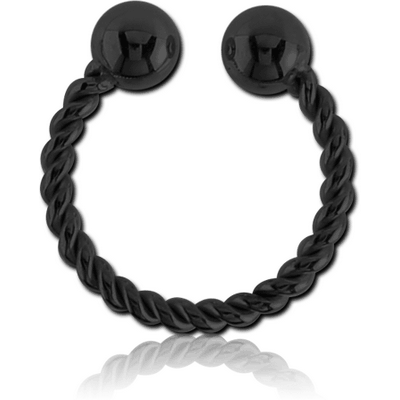 BLACK PVD COATED SURGICAL STEEL NOSE RING