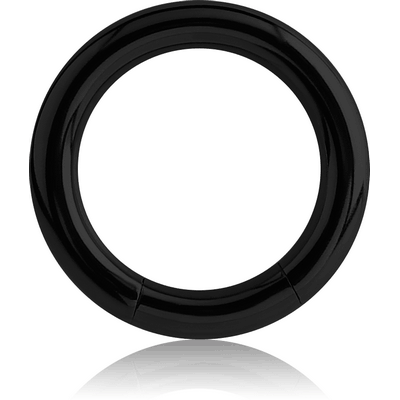BLACK PVD COATED TITANIUM SMOOTH SEGMENT RING