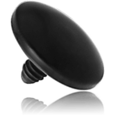 BLACK PVD COATED TITANIUM DISC FOR 1.6MM INTERNALLY THREADED PINS