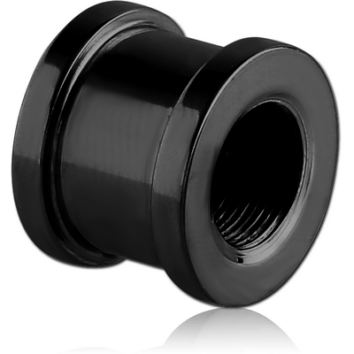 BLACK PVD COATED STAINLESS STEEL THREADED TUNNEL