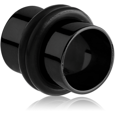 BLACK PVD COATED STAINLESS STEEL FLESH TUNNEL