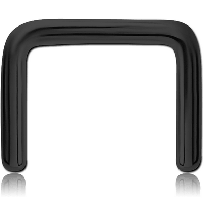 BLACK PVD COATED SURGICAL STEEL SEPTUM RETAINER